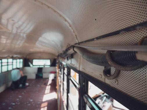 Converting a school bus is an enjoyable experience, but it isn't easy. From legalities to appliances, here's five things to consider before starting your skoolie!   sincewewokeup.com