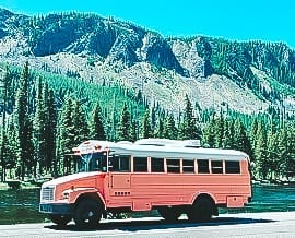 Today we're featuring the Someday the Bus skoolie - a bus conversion with total glam vibes, hot pops of color, and an amazing family that calls it home. | Since We Woke Up | sincewewokeup.com